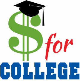 money for college with money sign and graduation cap