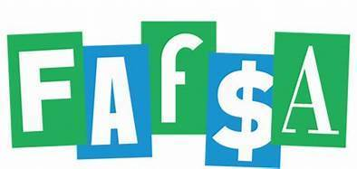 FAFSA in blue and green letters
