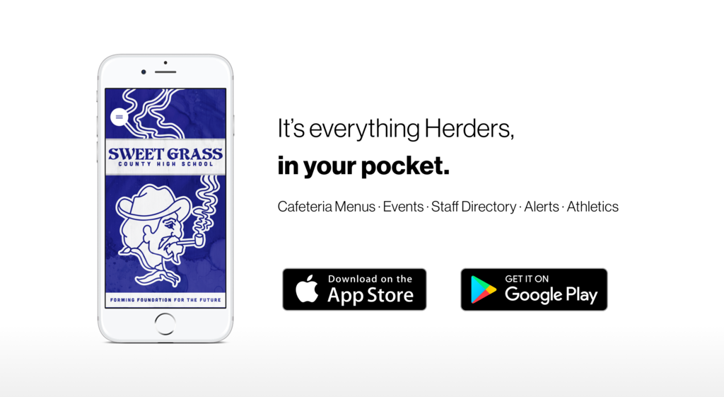 "A picture of a iPhone with the Herder app own on the screen. ""It's everything Herders in your pocket""."
